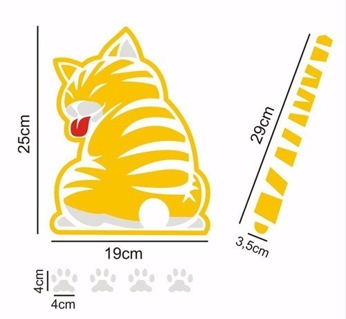 Stiker Wiper Ekor Kucing Bergerak/Moving Tail Cat