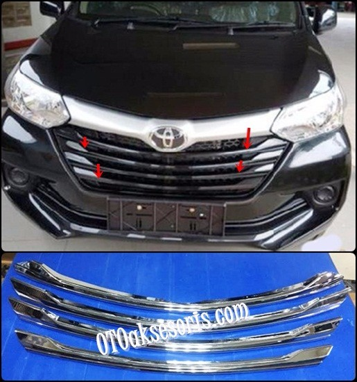 List Grille Depan/Front Grille 4 Pcs Grand New Avanza