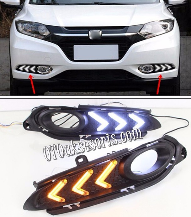 Cover/Ring/Garnish Foglamp DRL LED Model Arrow Honda HRV