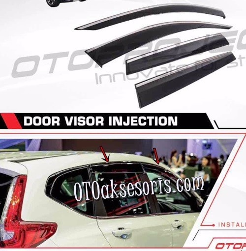 Talang Air/Side Visor Injection/List Chrome Honda CRV Turbo