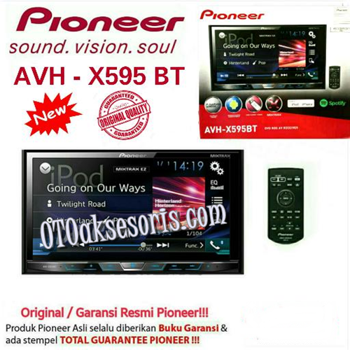 Audio Mobil Pioneer AVH-X595BT/Head Unit Double Din AVH X 595BT/Tape Mobil AVH-X595 BT