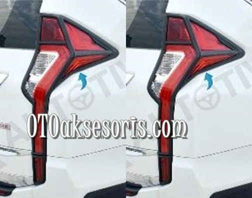 Garnish Belakang Black Carbon /Stop Tail Lamp Carbontivo All New Pajero Sport 2016