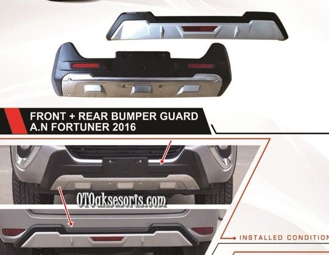 Front + Real Bumper Guard/Bumper Depan + Belakang All New Grand Fortuner