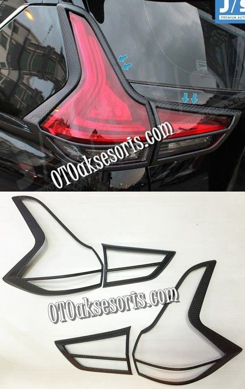 XPR 65-Garnish Belakang Black Carbon /Stop Tail Lamp Carbontivo Mitsubishi Xpander