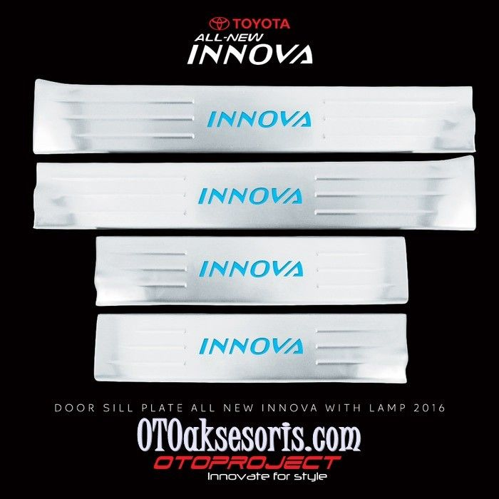 Sill Plate Samping/Door Sill Plate with Lamp All New Innova Reborn