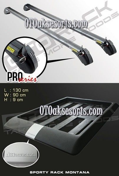 Paket Cross Bar + Roof Rack Evalia