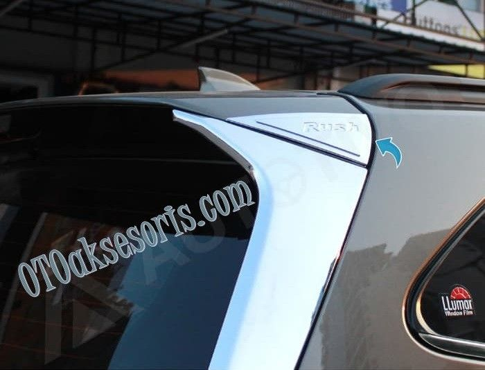 Spoiler Ornament Emboss Chrome All New Rush