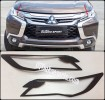 NPJ 64-Garnish Depan Hitam Doff/Head Lamp Black All New Pajero Sport 2016