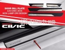 CVT  45-Sill Plate Samping/Side Scuff Plate Kombinasi/Door Sill Plate Oem All New Civic Turbo