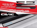 CVT 44-Sill Plate Samping/Side Scuff Plate Kombinasi/Door Sill Plate + Led Oem All New Civic Turbo