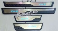 MZD 47-Sill Plate Samping dan Led / Side Scuff Plate Kombinasi / Door Sill Plate with Led MAZDA CX 5