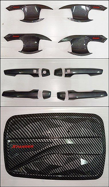Paket Hemat Handle Cover + Outher + Tank Cover Carbon / Mangkok / Pegangan / Tutup Bensin Xpander