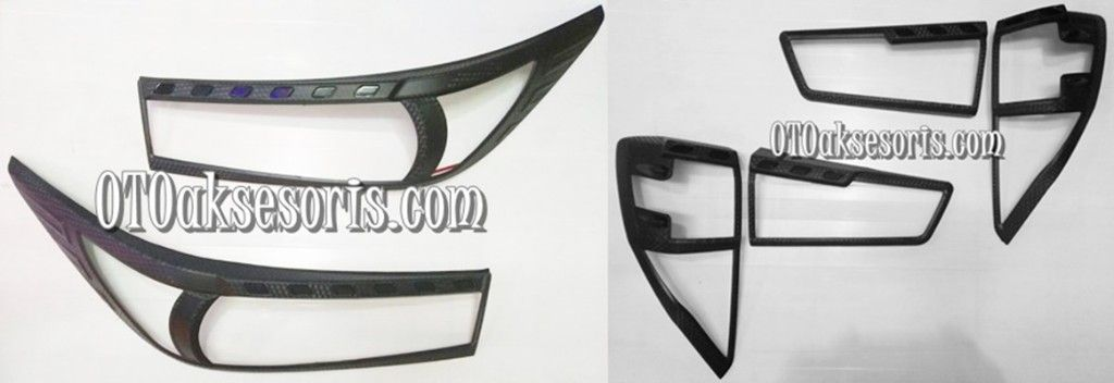 Garnish Depan + Belakang Hitam/Head + Stop Lamp Carbontivo All New Innova Reborn 2016