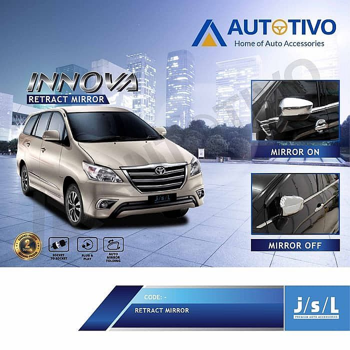 Auto Folding Mirror / Modul Spion Lipat New Grand Innova