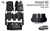 ANG 127-Karpet / Carpet Mobil 5D + Bagasi Toyota All New Fortuner VRZ (2016 - Up)