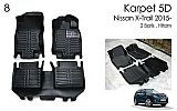 NSX 79-Karpet / Carpet Mobil + Bagasi 5D Nissan All New Xtrail