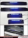 NPJ 179-Door Sill Plate Carbon All New Pajero Sport With Lamp / karbon