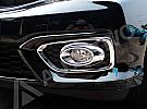 BRO 75-Honda Brio Cover Lampu Kabut / Fog Lamp Cover Platinum Chrome