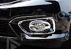 BRO 76-Honda Brio Cover Lampu Kabut / Fog Lamp Cover Sporty Chrome