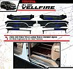 AV 42-Sillplate Samping hitam / Door Sill Plate Stainless With Lamp Black Chrome VELLFIRE 8 Pcs