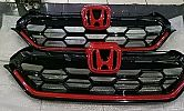 CTR 93-Front Grille Depan Model Modulo Kombinasi Hitam Merah / Black and Red  All New CRV Turbo